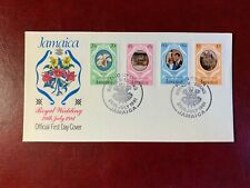 JAMAICA 1981 FDC PRINCE CHARLES PRINCESS DIANA WEDDING