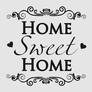 HOME SWEET HOME Reusable Stencil A3 A4 A5 Shabby Craft Art Painting Wall / N13
