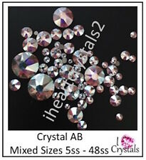 CRYSTAL AB 5ss - 48ss 1.8mm - 11mm 144 pieces Mixed Sizes Swarovski Flatbacks