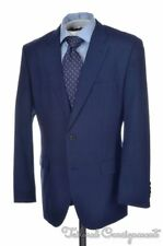 HUGO BOSS Current Blue Plaid Check 100% Wool Jacket Pants SUIT Mens - 40 R