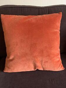"BNIP John Lewis Velvet Cushion Cover & Pad 17x17"""