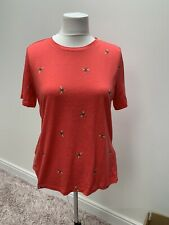 Joules Selma Top / T Shirt Pink Bees New With Tags Size 12