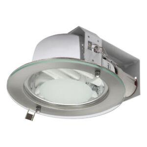 Downlight 2 x E27 Deckenlampe Unterbauleuchte  LED Aufbaustrahler Glas Shiro