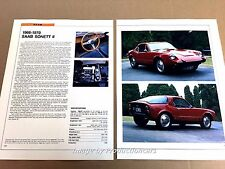 SAAB Sonett II Original Car Review Print Article J671 1966 1967 1968 1969 1970