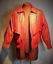 WILSON Woman's Red Leather Jacket 4 Season Small