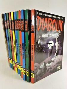 Diabolik XXXIX numeri 1-2-3-4-5-6-7-8-10-11-12.