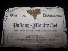 etiquette vin Puligny Montrachet Etienne Sauzet wine label bourgogne