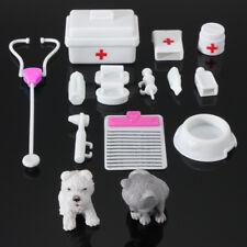 14Pcs Mini equipos médicos Juguetes para Barbie Moda Muñeca Accesorios Blanco EE. UU.