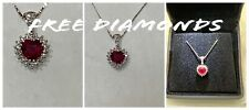 Choker Necklace 18 CT Gold with Diamonds and Ruby Heart - Promise Marriage