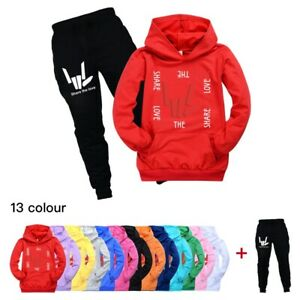 Share The Love Kids Hoodie Hooded+Trousers Set Tracksuit Youtuber Stephen Sharer
