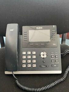 Used Black Yealink T46G Corded Telephone