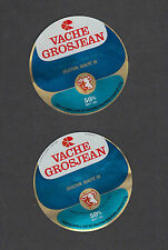 Ancienne   étiquette  Fromage France  MM218 Fromage Vache Grosjean 2