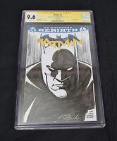 Batman 1 2016 DC Rebirth CGC SS Darick Robertson Sketch Hoknes Variant
