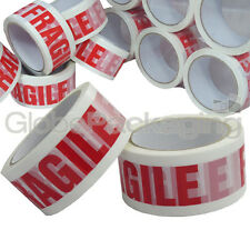 36 Rolls Of LOW NOISE FRAGILE Packing Tape 48mmx66M