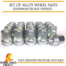 Ensemble de 20 * 12x1.5 mm 12x1.5 Alliage Roue Acier lug nuts 60 degrés boulons conique