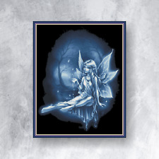 BLUE FAIRY - Counted cross stitch kit (with DMC threads)