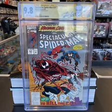 Spectacular Spider-man # 201  CGC 9.8 Nm/Mt Max Carn part 5 Stan Lee Autograph