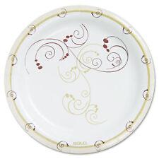 "5COU Symphony Paper Dinnerware Heavyweight Plate 9"" Tan 125/Pack HP9SJ8001PK"