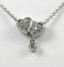 "Diamond Heart Necklace 14k WG with 0.26ct  by Aspery & Guldag ""CLOSE-OUT"""
