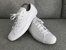 Converse White Leather All Stars Lo Uk7 Mono