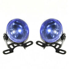 2x Blue 12V Fog Spot Lights Lamps For VW Volkswagen Golf Passat Caddy Touran