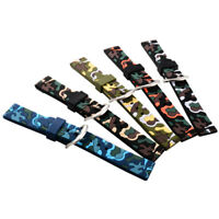 20/22/24 mm Silicone Watch Band Military Sport smartwatch Replacement Wristband