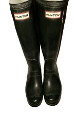 Hunter Original Tall Matte Black Rain Boots Size US  9 /EU 40