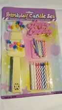 Happy Birthday Cursive Sign Cake Topper & Candles 50 Piece Set Birthday Party
