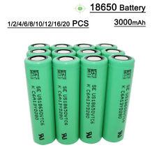 1/2/4/6/8/10Pcs 3000mAh 3.7V Li-ion Batería Recargable High Drain Battery e-bike
