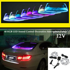 Auto 40 LED RGB Decorative Atmosphere Lamp W/Brake Turn Signal Flash Boot Light