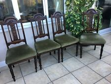4 vintage edwardian dining chairs in need of restoration