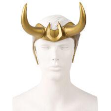 Loki Helmet Hard Horns PVC Movie Thor Ragnarok Halloween Cosplay for Adult Teen