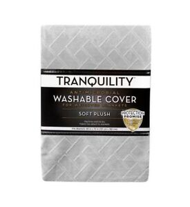 Tranquility Washable Weighted Blanket Cover, Antimicrobial, 48X72 Light Gray