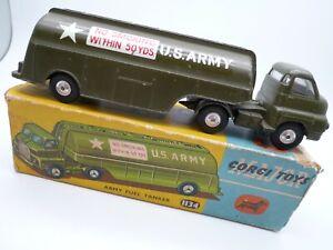 VINTAGE CORGI 1134 US ARMY BEDFORD FUEL TANKER IN ORIGINAL BOX 1965-66