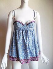 LIBERTY Target Lace Trim DITSY FLORAL Adjustable Strap w Bows BABYDOLL Sun Top S