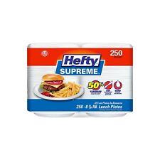 "Hefty Supreme 8 7/8"" Foam Plates, 250 ct."