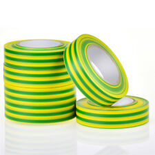 17mm PVC Electrical Insulating Tape Roll Ground Wire Adhesive Tape Green Yellow