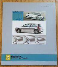 Prospekt / brochure DÉPLIANT RENAULT MÉGANE TROPHY  - 03/2005 - NEUF - TRÈS RARE