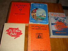 Vintage Children's Books Wonder Why, Geese, Martins, Darlie & Co. Wise Lot of 5