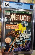 Werewolf By Night 33 CGC 9.4 White Pages 2nd appearance of Moon Knight