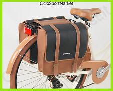"""Borsa DOPPIA posteriore SIMIL PELLE bicicletta / DIEFFE """"Americano Vintage"""""""