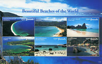 Grenada 2017 MNH Beautiful Beaches of World 6v M/S Tourism Landscapes Stamps