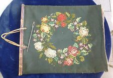 alte Trachten Einkaufstasche  mit historischem Verschluss  Gobelin 19.Jhd.