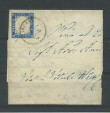 REGNO 1863 15C. NON DENTELLATO(busta) US.