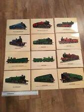 Set Of 12 Steam Engine Picture Cards