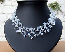 *Freedom Tree *Ladies Moonstone Semi Precious Chunky Gemstone Necklace /Choker