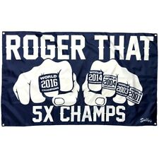 Roger That ! Patriots Champions Rings Tom Brady 3x5 Nylon Banner Flag FREESHIP