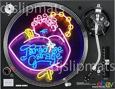 "Pair (2) PARADISE GARAGE 12"" or 7"" Pro DJ SLIPMATS disco Levan Siano Knuckles"