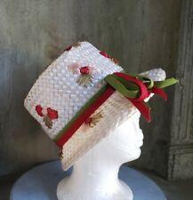 Vintage Armand Beverly Hills white nylon weave hat