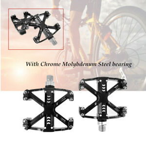 1 Pair Bike Pedals Flat Bicycle Sealed Chrome Molybdenum Steel Bearing Pedal BMX